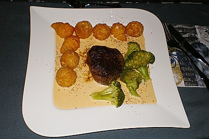Brittas Rindersteak mit Käse - Sauce 6