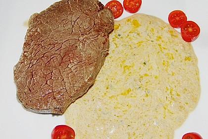 Brittas Rindersteak mit Käse - Sauce 9