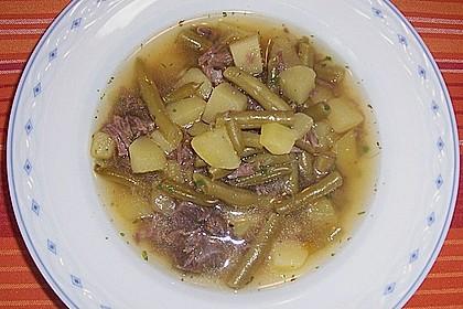 Grüne Bohnensuppe mit Rindfleisch 4