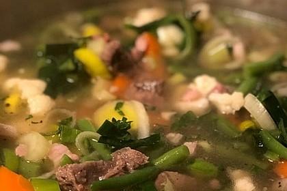 Grüne Bohnensuppe mit Rindfleisch 1