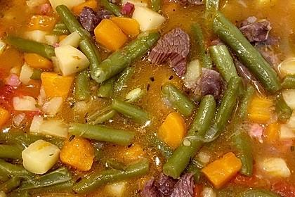 Grüne Bohnensuppe mit Rindfleisch 2