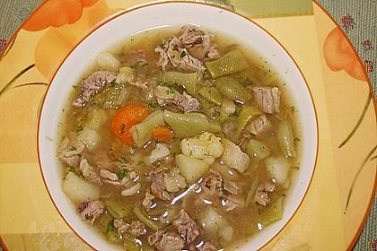 Grüne Bohnensuppe mit Rindfleisch 3