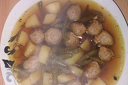 Grüne Bohnensuppe mit Rindfleisch 9
