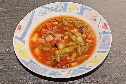Grüne Bohnensuppe mit Rindfleisch 8