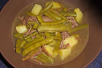 Grüne Bohnensuppe mit Rindfleisch 10