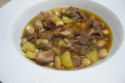 Grüne Bohnensuppe mit Rindfleisch 7