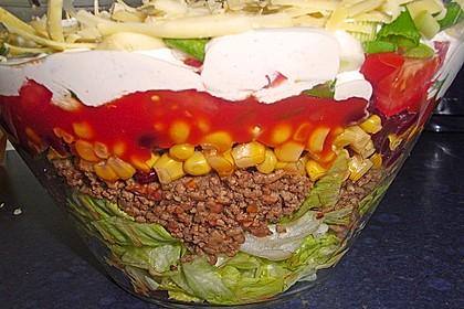 Mexicanischer Schichtsalat