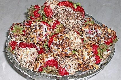 Erdbeeren mit Knusper - Schokohülle 3