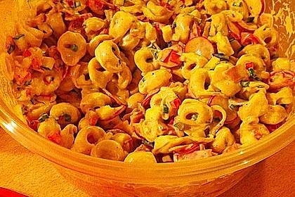 Tortellinisalat mit Zucchini und Schinken 13
