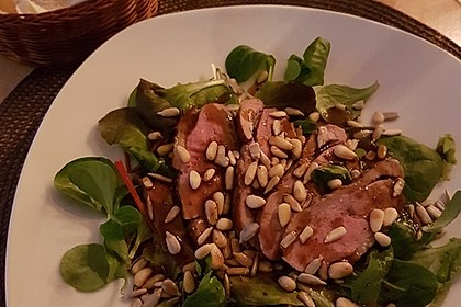 Feldsalat mit lauwarmer Entenbrust 9