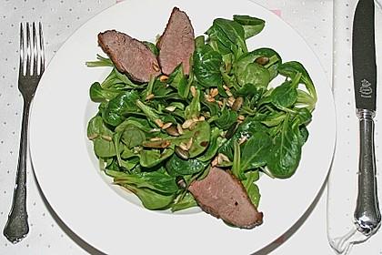 Feldsalat mit lauwarmer Entenbrust 6