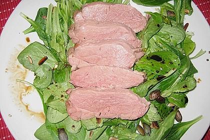 Feldsalat mit lauwarmer Entenbrust 13
