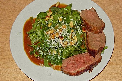 Feldsalat mit lauwarmer Entenbrust 3
