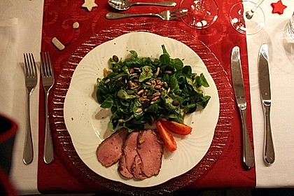 Feldsalat mit lauwarmer Entenbrust 8