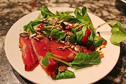 Feldsalat mit lauwarmer Entenbrust 4