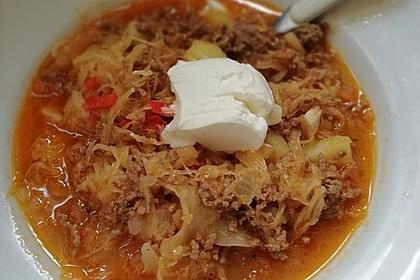 Leichte Sauerkrautsuppe ungarische Art 4