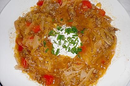 Leichte Sauerkrautsuppe ungarische Art 1