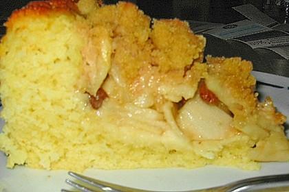 Apfelkuchen mit Rosinen und Zimt 2
