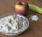 Apfel - Banane - Haferflocken - Brei