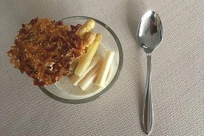 Spargel - Panna Cotta mit Käse - Schinken - Crackern 30