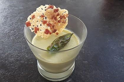 Spargel - Panna Cotta mit Käse - Schinken - Crackern 16