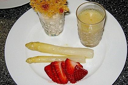 Spargel - Panna Cotta mit Käse - Schinken - Crackern 24