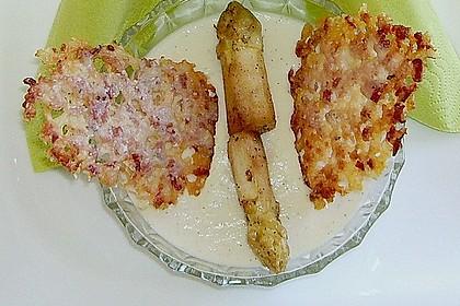 Spargel - Panna Cotta mit Käse - Schinken - Crackern 27