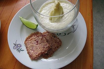 Spargel - Panna Cotta mit Käse - Schinken - Crackern 25