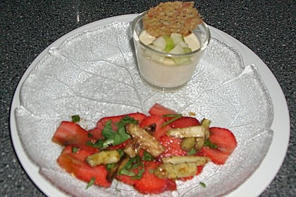 Spargel - Panna Cotta mit Käse - Schinken - Crackern 36