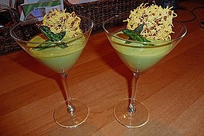 Spargel - Panna Cotta mit Käse - Schinken - Crackern 6