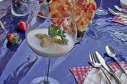 Spargel - Panna Cotta mit Käse - Schinken - Crackern 13