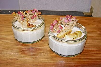 Spargel - Panna Cotta mit Käse - Schinken - Crackern 17