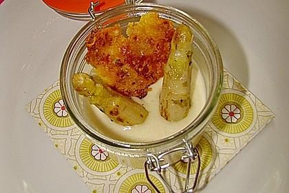 Spargel - Panna Cotta mit Käse - Schinken - Crackern 32