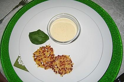 Spargel - Panna Cotta mit Käse - Schinken - Crackern 21