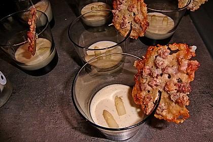 Spargel - Panna Cotta mit Käse - Schinken - Crackern 33