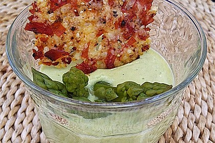 Spargel - Panna Cotta mit Käse - Schinken - Crackern 4