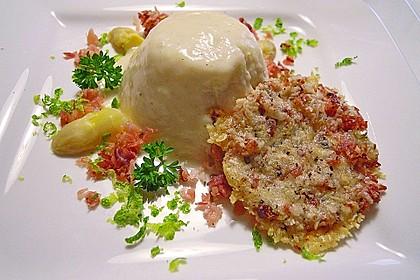 Spargel - Panna Cotta mit Käse - Schinken - Crackern 7