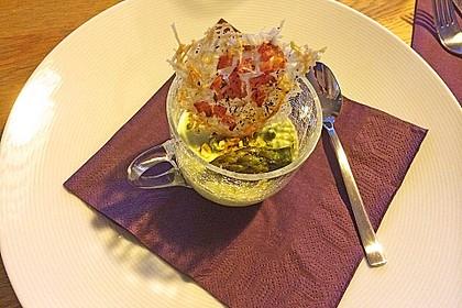 Spargel - Panna Cotta mit Käse - Schinken - Crackern 15