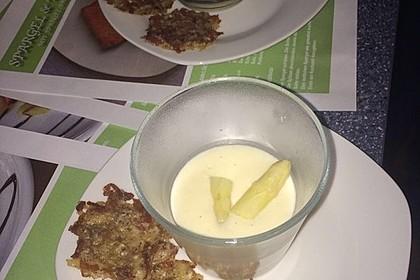 Spargel - Panna Cotta mit Käse - Schinken - Crackern 31