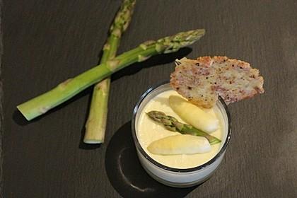Spargel - Panna Cotta mit Käse - Schinken - Crackern 8