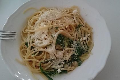Spaghetti mit Bärlauch 12