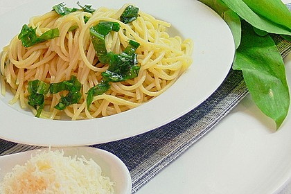 Spaghetti mit Bärlauch 5