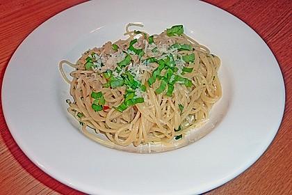 Spaghetti mit Bärlauch 20