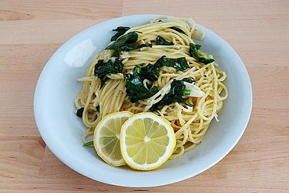 Spaghetti mit Bärlauch 8
