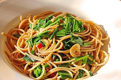 Spaghetti mit Bärlauch 1