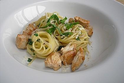 Spaghetti mit Bärlauch 7