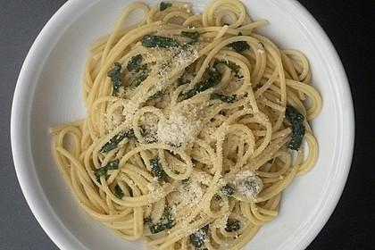 Spaghetti mit Bärlauch 10
