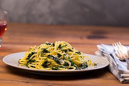 Spaghetti mit Bärlauch 17
