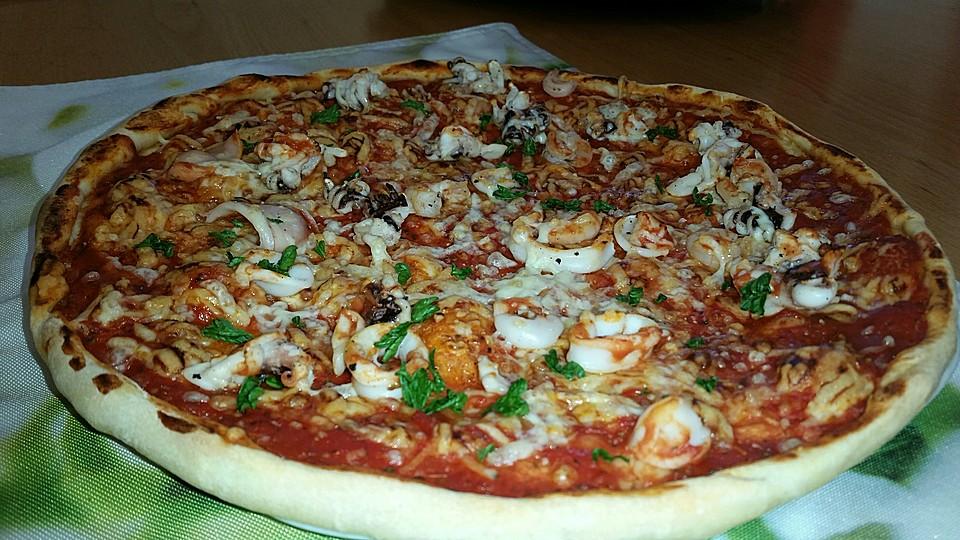 Zutaten pizza frutti di mare