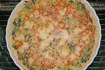 Kartoffel - Spinat - Quiche